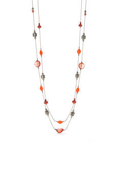 Ruby Rd Bold Moves 2 Row Long Chain Necklace