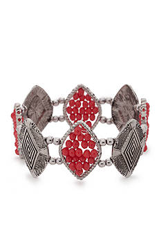 Ruby Rd Silver-Tone Bold Moves Stretch Bracelet
