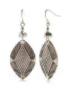 Ruby Rd Bold Moves Etched Diamond Disc Drop Earring