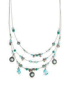 Ruby Rd Silver-Tone Easy Breezy Illusion Necklace