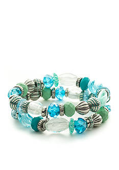 Ruby Rd Silver-Tone Easy Breezy 2 Row Bracelet