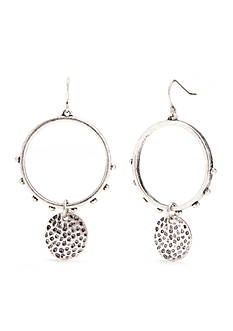 Ruby Rd Open Circle With Disc Drop Earring