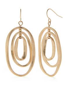 Ruby Rd Gold Oblong Orbital Earring