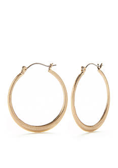 Ruby Rd Gold Graduated Hoop Earring