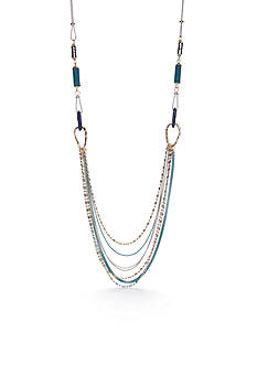 Ruby Rd Silver-Tone Good Jeans Swag Chain Necklace