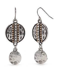 Ruby Rd Two-Tone Chain Reactive Double Drop Earrings