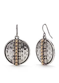 Ruby Rd Two-Tone Chain Reactive Disc Drop Earrings