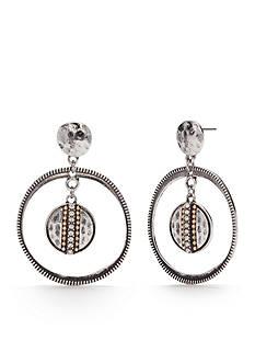 Ruby Rd Two-Tone Chain Reactive Orbital Drop Earrings
