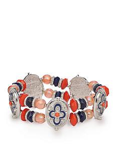 Ruby Rd Silver-Tone Viva Antiqua Stretch Bracelet