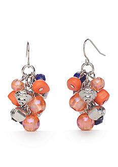 Ruby Rd Silver-Tone Viva Antiqua Cluster Drop Earrings