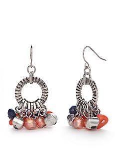 Ruby Rd Silver-Tone Viva Antiqua Chandelier Earrings