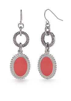 Ruby Rd Silver-Tone Viva Antiqua Double Drop Earrings