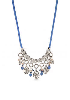 Ruby Rd Silver-Tone Blue Traveler Statement Necklace