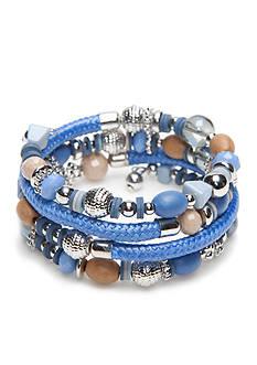Ruby Rd Silver-Tone Blue Traveler Coil Bracelet