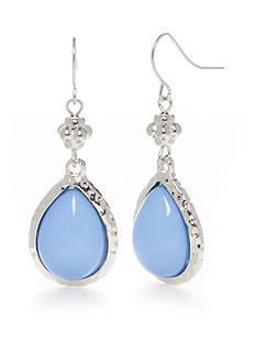 Ruby Rd Silver-Tone Blue Traveler Teardrop Earrings