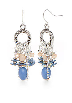 Ruby Rd Silver-Tone Blue Traveler Chandelier Earrings