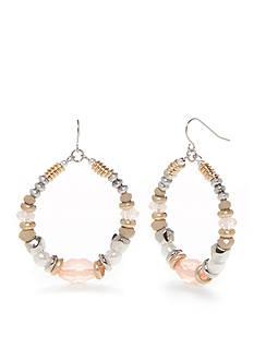 Ruby Rd Silver-Tone Desert Rose Beaded Drop Earrings