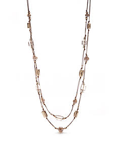 Ruby Rd Two-Tone Coconut Cove Long Illusion Necklace