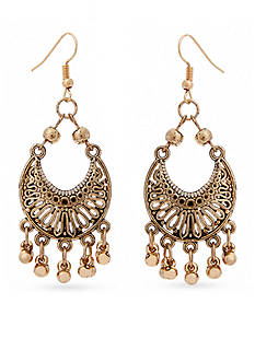 Red Camel® Gold-Tone Filigree Chandelier Earrings