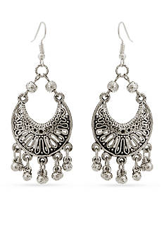 Red Camel® Silver-Tone Filigree Chandelier Earrings