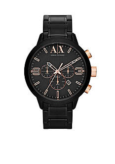 Armani Exchange AX Men's Black IP Stainless Steel Watch