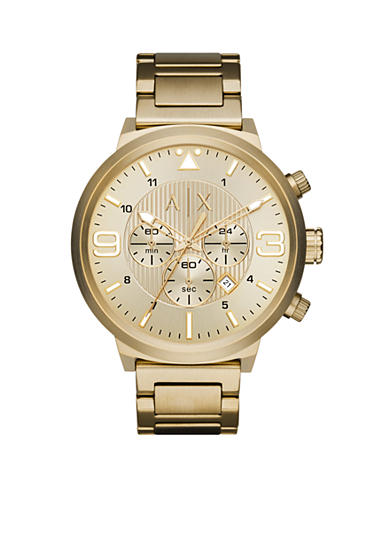 Armani Exchange AX Men's Street Gold-Tone Stainless Steel Chronograph Watch