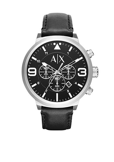 Armani Exchange AX Men's Street Leather Chronograph Watch