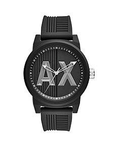 Armani Exchange AX Men's Stainless Steel ATLC Black Silicone Watch