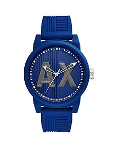 Armani Exchange AX Men's Three-Hand Silicone Watch