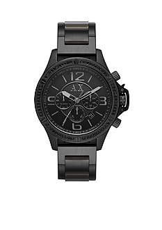 Armani Exchange AX Men's Street Black IP Stainless Steel Glitz Chronograph Watch