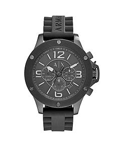 Armani Exchange AX Men's Wellworn Chronograph Black Silicone Watch