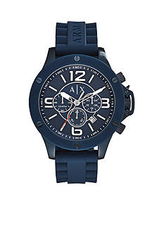 Armani Exchange AX Men's Wellworn Chronograph Blue Silicone Watch