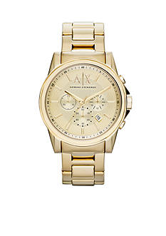Armani Exchange AX Men's Gold Tone Stainless Steel Watch