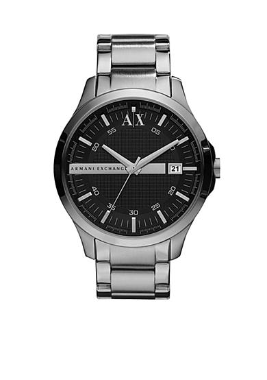 Armani Exchange AX Whitman Classic Stainless Steel Men's Watch with Black Dial