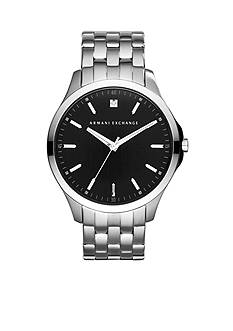Armani Exchange AX Men's Stainless Steel Three Hand Genuine Diamond Watch