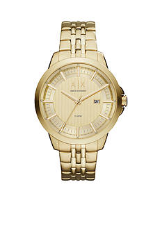 Armani Exchange AX Men's Gold-Tone 3-Hand Date Watch
