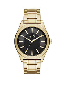 Armani Exchange AX Men's Gold-Tone 3-Hand Watch