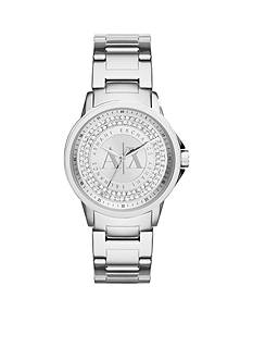 Armani Exchange AX Women's Stainless Steel Three-Hand Glitz Watch