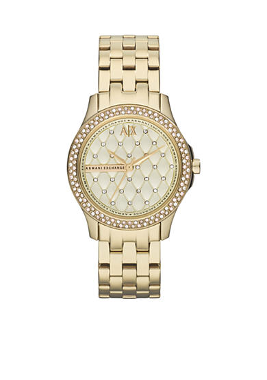 Armani Exchange AX Women's Gold-Tone Stainless Steel Watch