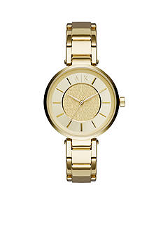 Armani Exchange AX Women's Gold-tone Olivia Three-Hand Watch
