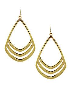 Vince Camuto Gold-Tone Chevron Drop Earrings