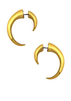 Vince Camuto By The Horns Gold Hoop Earrings