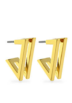 Vince Camuto Very Vince Gold-Tone Double V Earring