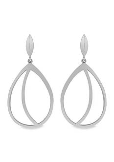 Vince Camuto Metal Cutout Hoop Earrings