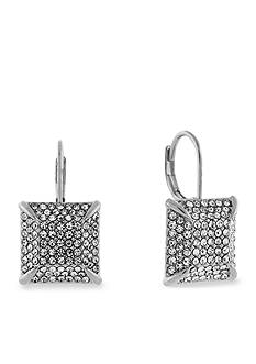Vince Camuto Crystal Square Drop Earrings