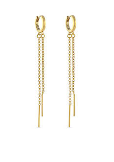 Vince Camuto Double Drop Chain Huggy Earring