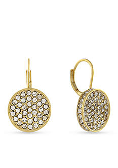 Vince Camuto Circle Pave Lever Back Earrings