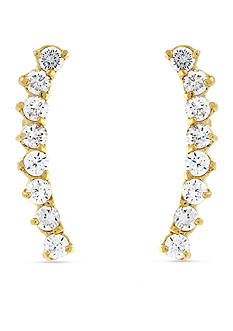 Vince Camuto Gold-Tone Open Circle Drop Earrings