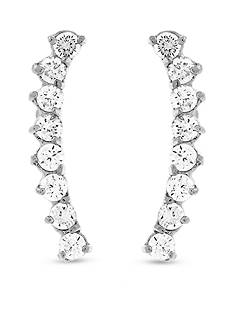 Vince Camuto Silver-Tone Stone Linear Earrings