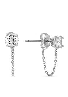 Vince Camuto Silver-Tone Swag Chain Drop Earrings